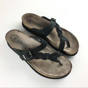 Mephisto Women Sandals Thong Flip Flops Leather